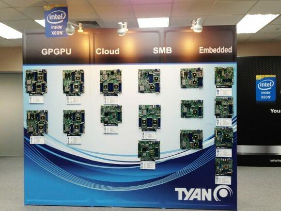 TYAN Motherboard Wall at Computex 2013